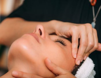 Ayurvedic Face Massage Therapy with Essential Aromatherapy Oils